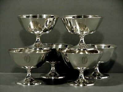Whiting Sterling Silver Goblets        Sherberts     c1920     (6)