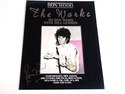 "Rolling Stones / Ron Wood - Signed Book "" The Works "" By Ronnie Wood - Nm"