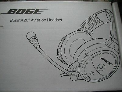 Bose A20 Aviation Headset U174 Connector - Never Used