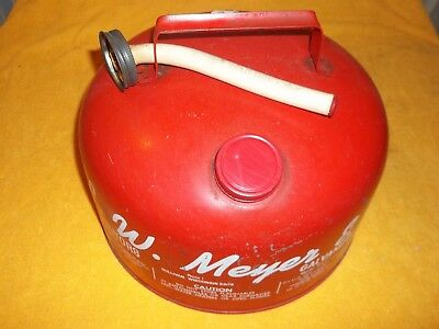 Eagle 2 1/2 Gallon Galvanized Gas Can Model Sp 2 1/2 With Spout L.w. Meyer & Son