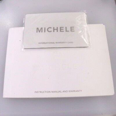 Blank Michele Watch Warranty Card And Instruction Manual