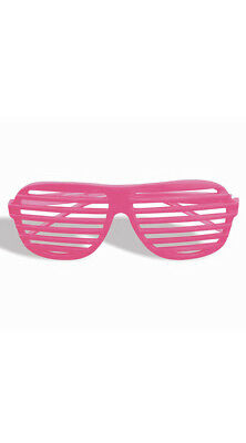 One Size Fits Most Womens Neon Pink Slotted Glasses, Neon Slotted Glasses