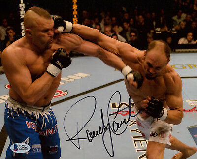 Randy The Natural Couture Signed 8X10 Photo Beckett Bas Coa Ufc Legend 6