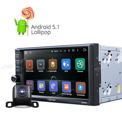 """Double 2DIN 7"""" Andriod Car Stereo GPS Navigation Head Unit WiFi Bluetooth +CAM A"""