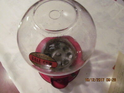 "Antique Red Ford GUMBALL Machine  ""Quality Ball Gum - Try One"" Label  NO RESERVE"