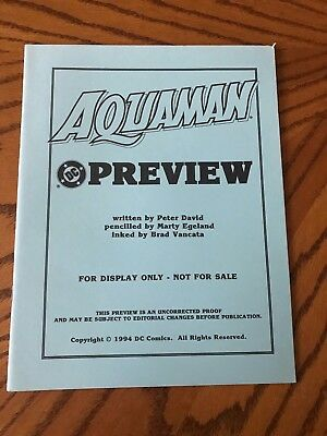 1994 DC Comics Aquaman #1 Preview Edition