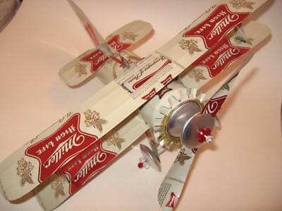 Miller High Life  Beer- Can Airplane -Unique - Handmade - Wind Spinner-Airplane
