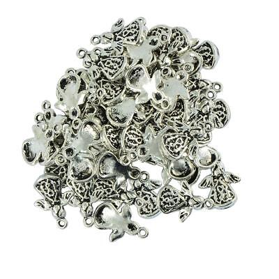 Packet 30Pcs Antique Silver Tibetan Angel with Wing Charm Pendants DIY Craft