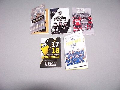 2017-18 NHL Hockey Schedules Lot (lot of 5 diff.): Ana,LA,Ott,Pitt,Stl