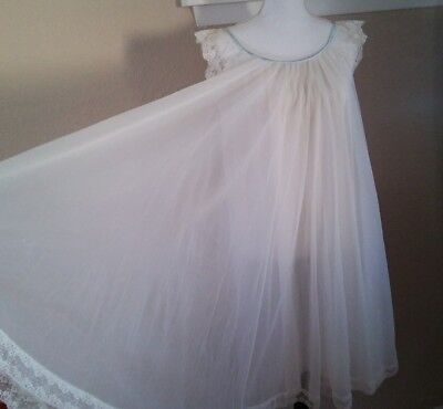 Vintage Chiffon Lucie Ann Claire Sandra nightgown huge sweep babydoll