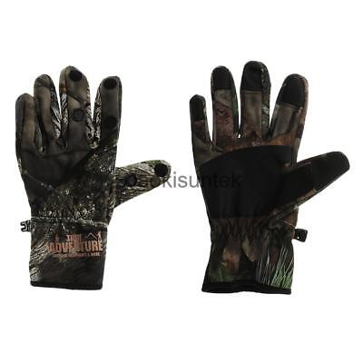 Winter Warm Bionic Camo Hunting Gloves Waterproof Windproof Full Finger XL