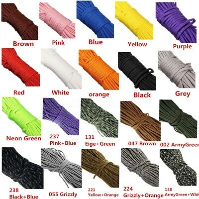 AU 20-300 FT 550 Paracord Parachute Cord Lanyard Mil Spec Type III 7 Strand Core
