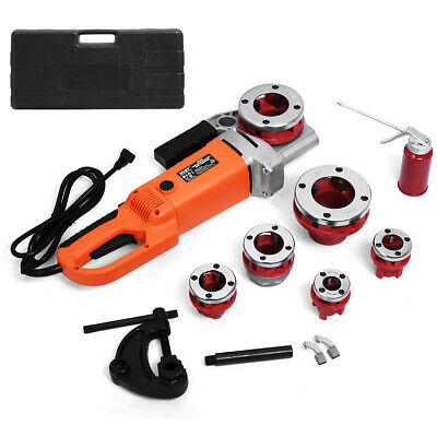 "NewHD 2000W Portable Electric Pipe Threader 6 Dies Threading Machine 1/2"" to 2"""