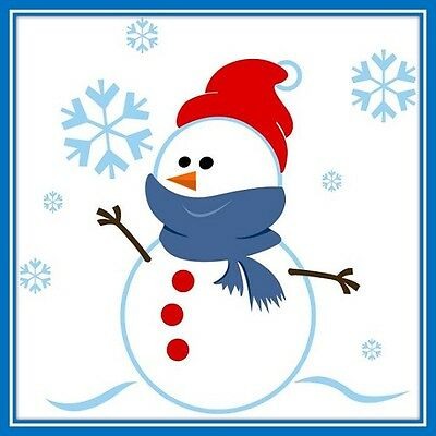 30 Custom Winter Holiday Snowman Personalized Address Labels