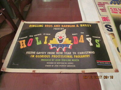 Ringling Bros Barnum & Bailey Circus Poster CLOWN  HOLIDAY SPECTACULAR  Geddes