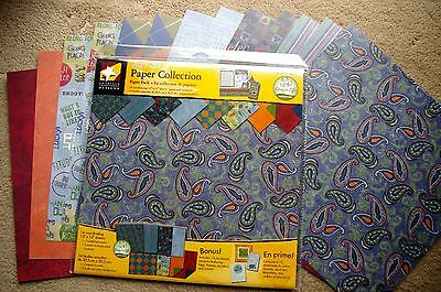 American Designs Guy's Life 12x12 Paper Collection Scrapbook Kit BONUS Accents