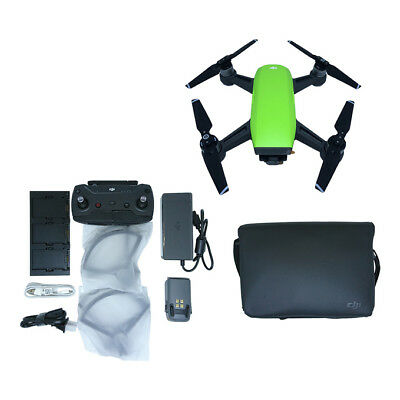 NEW DJI Spark Fly More Combo Camera Drone International Warranty MEADOW GREEN