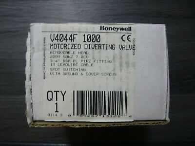 Honeywell V4044F1000/U Diverter Valve 3/4 Female Bsp 6 Wire Removable Head
