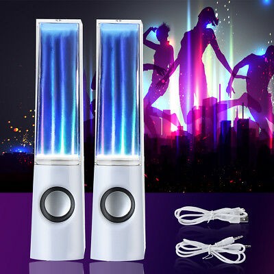 LED Dancing Water Light Speakers Show Music Fountain Stereo for Phones Computer