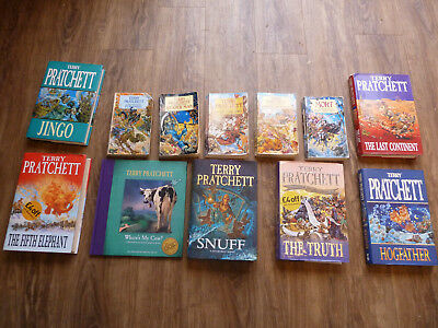 JOBLOT COLLECTION of TERRY PRATCHETT BOOKS. HB & PB DISCWORLD JINGO/TRUTH....