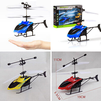 Flying Mini RC Infraed Induction Helicopter Aircraft Flashing Light Kids Toys