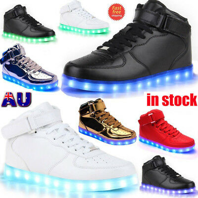 LED Light Lace Up Luminous Shoes Sportswear Sneaker Casual Shoes MS
