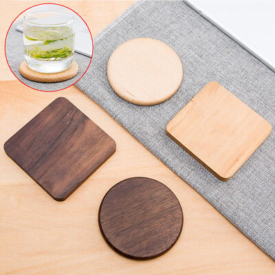 Wooden Heat Insulation Tea Coasters Cup Holder Mat Pads Coffee Drinks Placemat