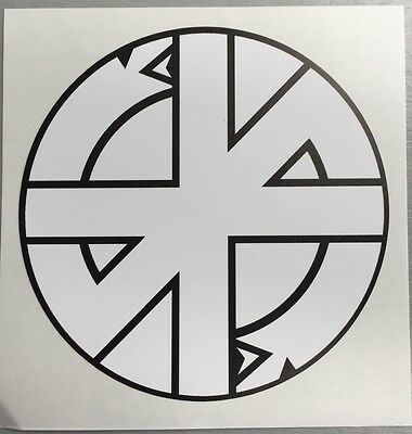 New unused 120mm circular Vinyl Sticker crass conflict anarchy punk car iPad