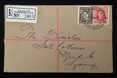 1949 Registered Cover Raaf Po Schofields Nsw P/m Cds Renamed Air Force Po
