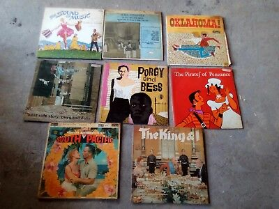 Set of 8 Rodgers and Hammerstein musical LPs Porgy & Bess/King & I/Guys&Dolls