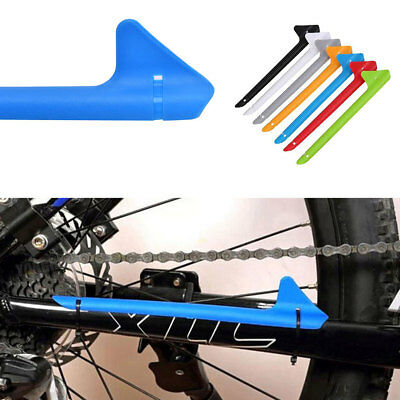 Plastic Mountain Bike Bicycle Chain Stay Guard Protector Rear Frame Cover Useful