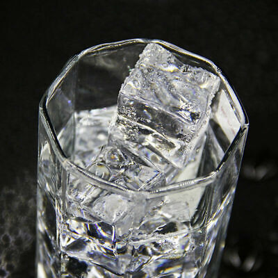 Clear Fake Artificial Acrylic Ice Cubes Bar Club Supplier Home Decor 5/15/30pcs