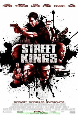 STREET KINGS MOVIE POSTER Original DS 27X40 KEANU REEVES FOREST WHITAKER 2008