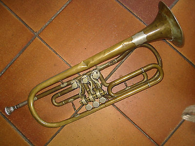 Very old rotary  trumpet  in F (?) w. garland;  BOHLAND & FUCHS Needs repair