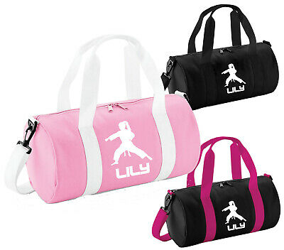 Girls Personalised Karate Punch Gym Bag Girls Martial Arts Sport Holdall