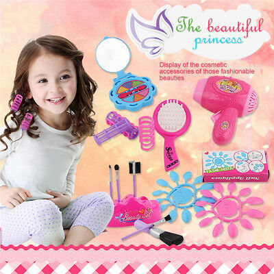 Pretend Role Play Girls Make Up Cosmetic Tools Set Game Toy Kids Baby Xmas Gifts