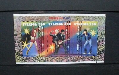 SWEDEN 1991 Rock and Pop Music. Booklet Pane. Mint Never Hinged. SG1599/1601