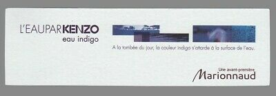 Carte publicitaire - advertising card - L'Eau par Kenzo recto verso
