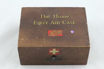 Vintage Wooden Boots The Home First Aid Case - No Contents