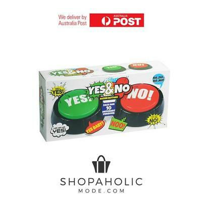 Talking Yes & No Buzzer Buttons Family Game Desktops Office