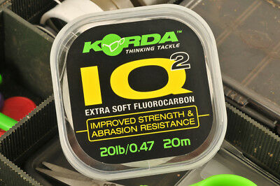 Korda IQ2 Fluorocarbon Invisible Hooklink Material Carp fishing Free Postage