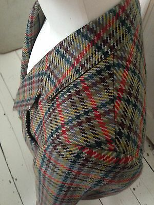 Pure New Wool Womens Blazer 12/14 Checked By Daks Signature Bussiness Equestrian