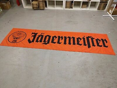 Jagermeister Flag Banner. 3m long! Man-cave, Student House, Home Bar, Party