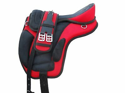 New All Purpose Horse Synthetic Treeless Freemax Saddles( Size 15''16'17'18)