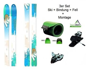 K2 TalkBack 88 freeride- and Touring Skis + Dynafit Radical Piece+Matching