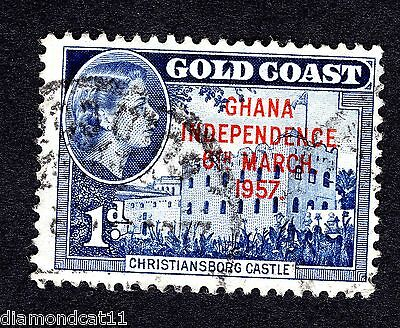 1957 Ghana 1d OPTD GHANA INDEPENDENCE 6TH MARCH 1957 Fine Used R26654
