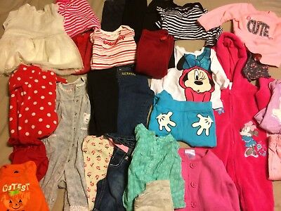 Baby Girls Clothes Lot Fall . Size 3-6 6 Months. Gap , Carters , Minnie 29 Pcs