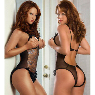 One-Piece Free Size Chiffon + lace Bare-breasted Lace Temptation Sexy Lingerie