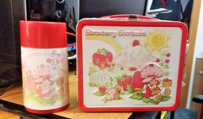 1980 Strawberry Shortcake Lunch Box With Thermos