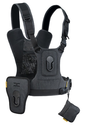 Cotton Carrier CCS G3 Camera Harness System For 2 Cameras - Charcoal Grey